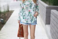 18 Floral Aus der Schulterbluse Outfits